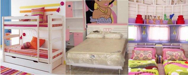 Literas cama doble separadas for Cuartos para ninas literas