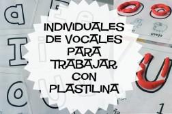Individuales de vocales para trabajar con plastilina
